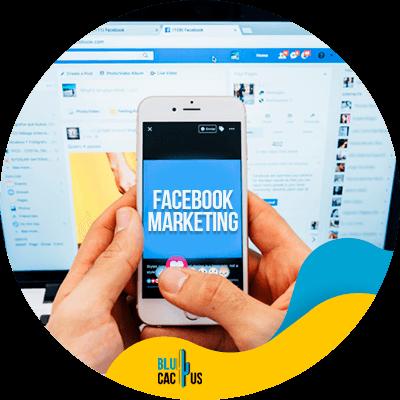 BluCactus - Facebook marketing - Somebody using a phone